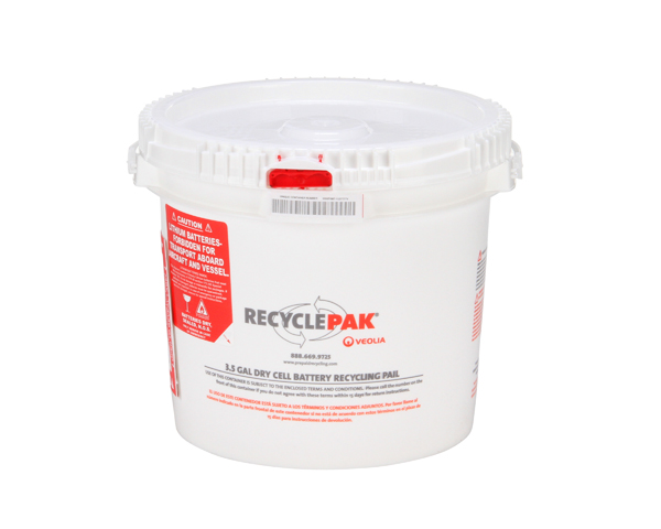 SUPPLY-041CH- 3.5 GAL DRY CELL BATTERY RECYCLING PAIL (EACH)