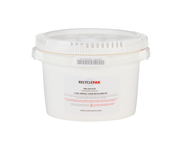 SUPPLY-063CH- 2 GAL DENTAL FIXER RECYCLING PAIL (EACH)